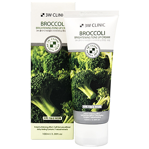 3W Clinic Крем с экстрактом брокколи - Broccoli brightening tone up craem, 100мл(Срок до 31.09.2021)