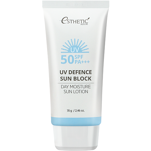 Esthetic House Лосьон солнцезащитный - Uv defence sun block day moisture sun lotion spf 50+, 70г