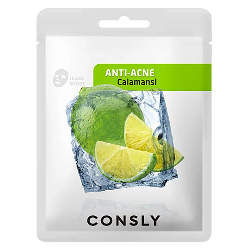 Consly Маска тканевая с экстрактом каламанси - Calamansi anti-acne mask pack, 20мл