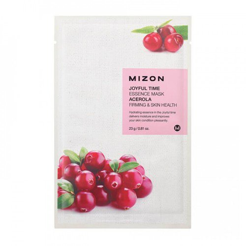 Mizon Маска тканевая с ацеролой - Joyful time essence mask acerola, 23г