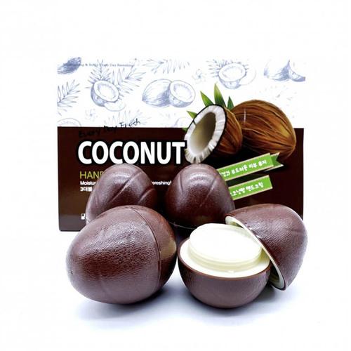 3W Clinic Набор кремов для рук с кокосом - Coconut hand cream, 30г*6шт