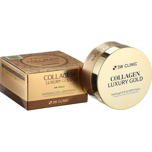 3W Clinic Патчи гидрогелевая с коллагеном и золотом - Collagen luxury gold hydrogel patch, 60шт