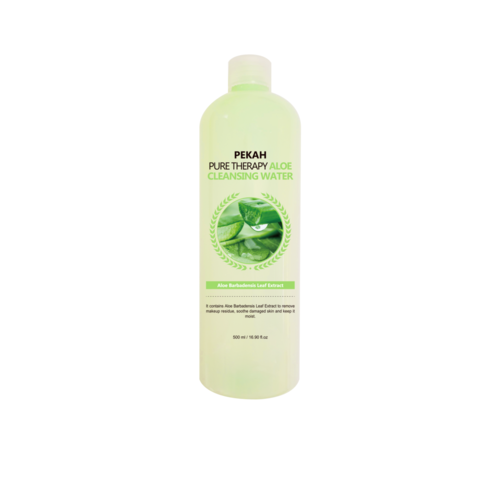 Pekah Вода мицеллярная с экстрактом алоэ - Pure therapy aloe cleansing water, 500мл