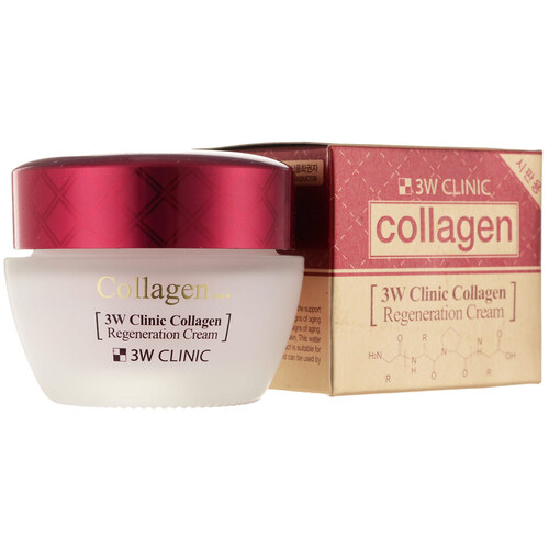 3W Clinic Крем для лица лифтинг с коллагеном - Collagen regeneration cream, 60мл