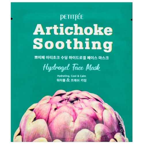 Petitfee Маска гидрогелевая с артишоком - Artichoke soothing hydrogel face mask, 32г
