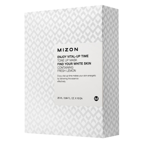 Mizon Маска для лица тканевая осветляющая - Enjoy vital up time tone up mask, 25мл