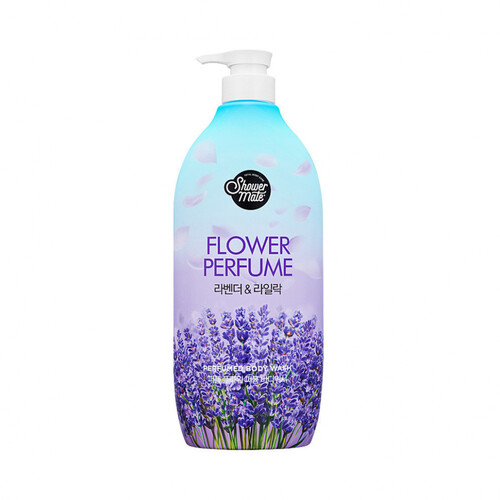 KeraSys Гель для душа «лаванда» - Shower mate flower perfume purple flower, 900мл