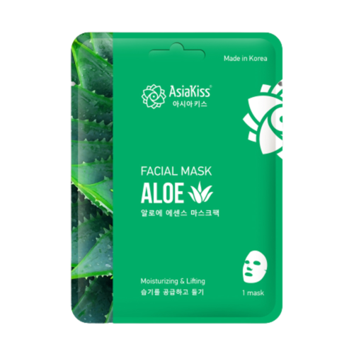 AsiaKiss Маска тканевая для лица с экстрактом алое - Aloe essence facial mask, 25г