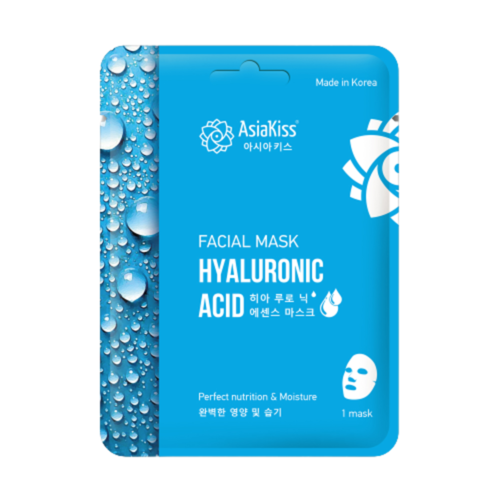 AsiaKiss Маска тканевая для лица с гиалуроновой кислотой - Hyaluronic essence facial mask, 25г