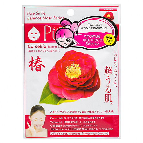 Sunsmile Маска для лица с экстрактом камелии - Face mask with camellia extract, 30г