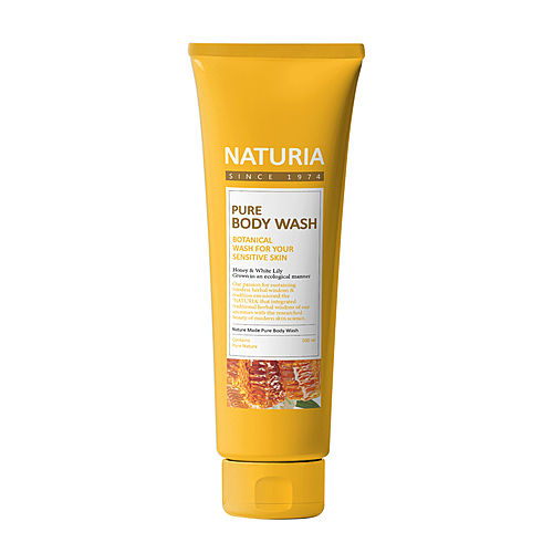 Naturia Гель для душа мед/лилия - Pure body wash honey & white lily, 100мл