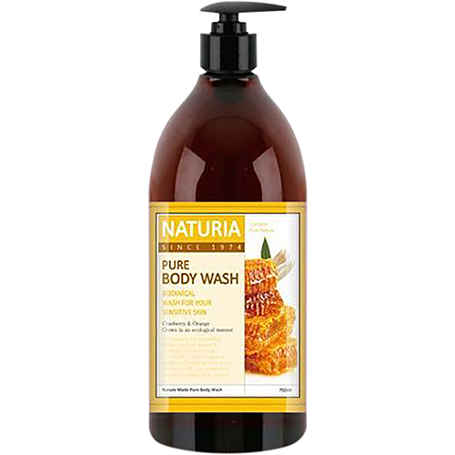 Naturia Гель для душа мед/лилия - Pure body wash honey & white lily, 750мл