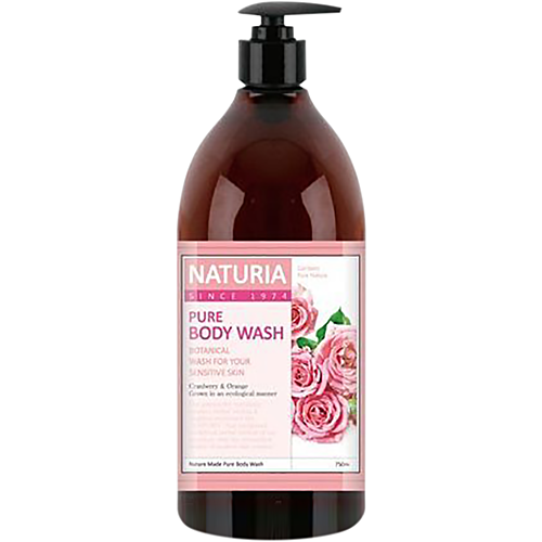 Naturia Гель для душа роза/розмарин - Pure body wash rose & rosemary, 750мл