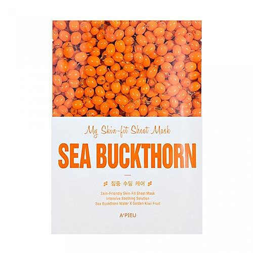 A'Pieu Маска тканевая c экстрактом облепихи - My skin-fit sheet mask sea buckthorn, 25г