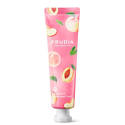 Frudia Крем для рук c персиком - Squeeze therapy peach hand cream, 30г