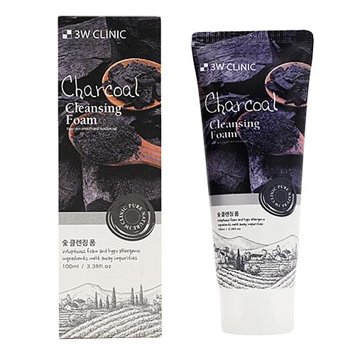 3W Clinic Пенка для умывания с древесным углем - Charcoal foam cleansing, 100мл