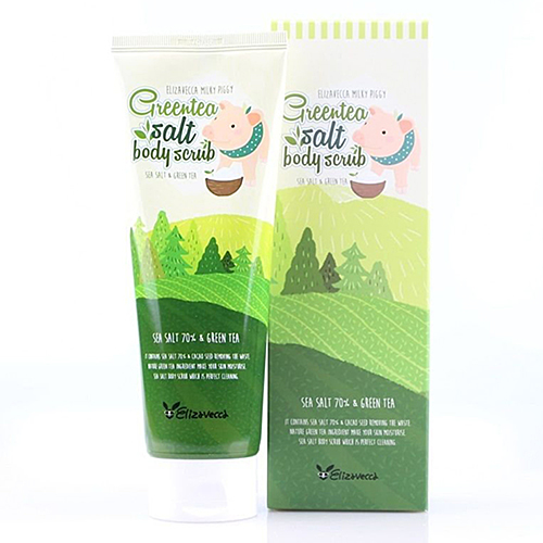 Elizavecca Скраб для тела с экстрактом зеленого чая - Green tea salt body scrub, 300г