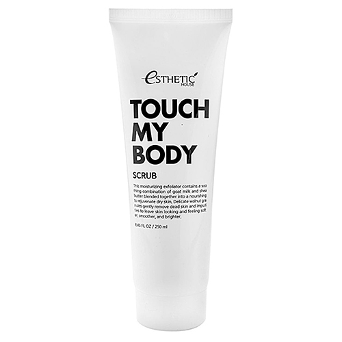 Esthetic House Скраб для тела на основе козьего молока - Touch my body goat milk body scrub, 250мл