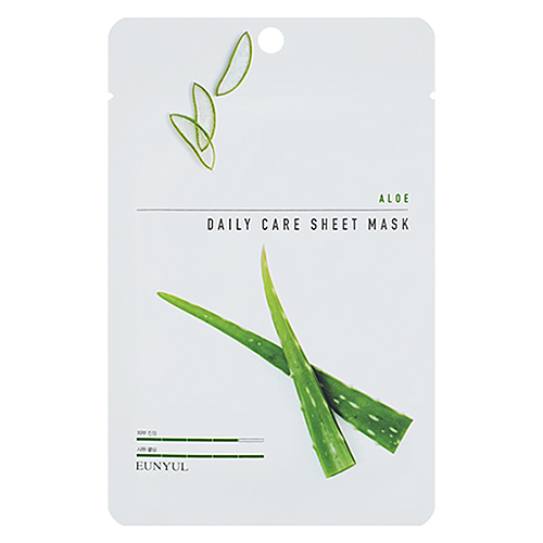 Eunyul Маска тканевая для лица с экстрактом алое - Aloe daily care sheet mask, 22г