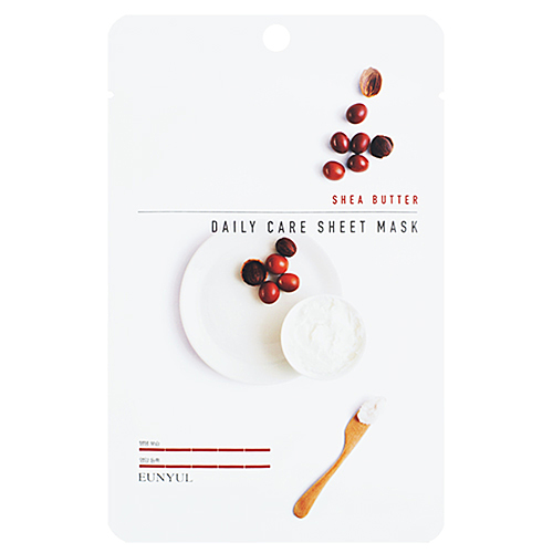 Eunyul Маска тканевая для лица с маслом ши - Shea butter daily care sheet mask, 22г