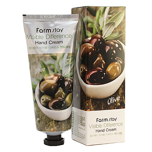 FarmStay Крем для рук с экстрактом оливы - Visible difference hand cream olive, 100г