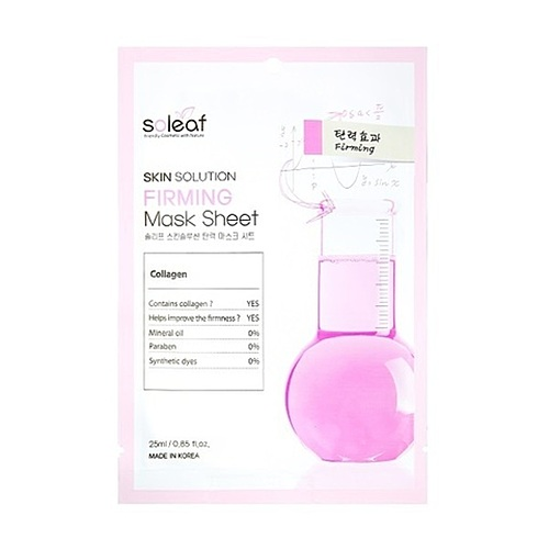 Soleaf Маска для лица омолаживающая с коллагеном - Skin solution firming mask sheet, 25мл