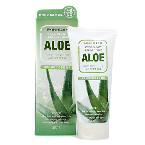 Jigott Маска-пленка для лица с экстрактом алоэ вера - Pure clean peel off pack aloe, 180мл