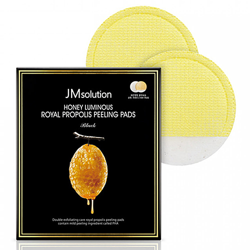 JMsolution Пилинг-пады с экстрактом прополиса - Honey luminous royal propolis peeling pads, 7г