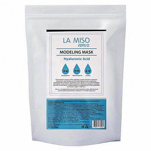 La Miso Маска альгинатная с гиалуроновой кислотой - Hyaluronic acid modeling mask, 1000г