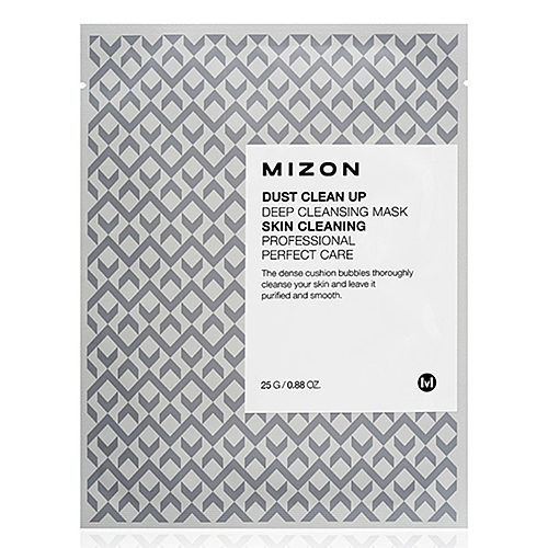 Mizon Маска тканевая очищающая - Dust clean up deep cleansing mask, 30г