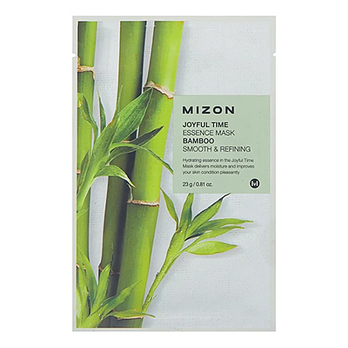 Mizon Маска тканевая для лица с экстрактом бамбука - Joyful time essence mask bamboo, 23г