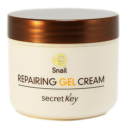Secret Key Гель для лица с муцином улитки - Snail repairing gel cream, 50г